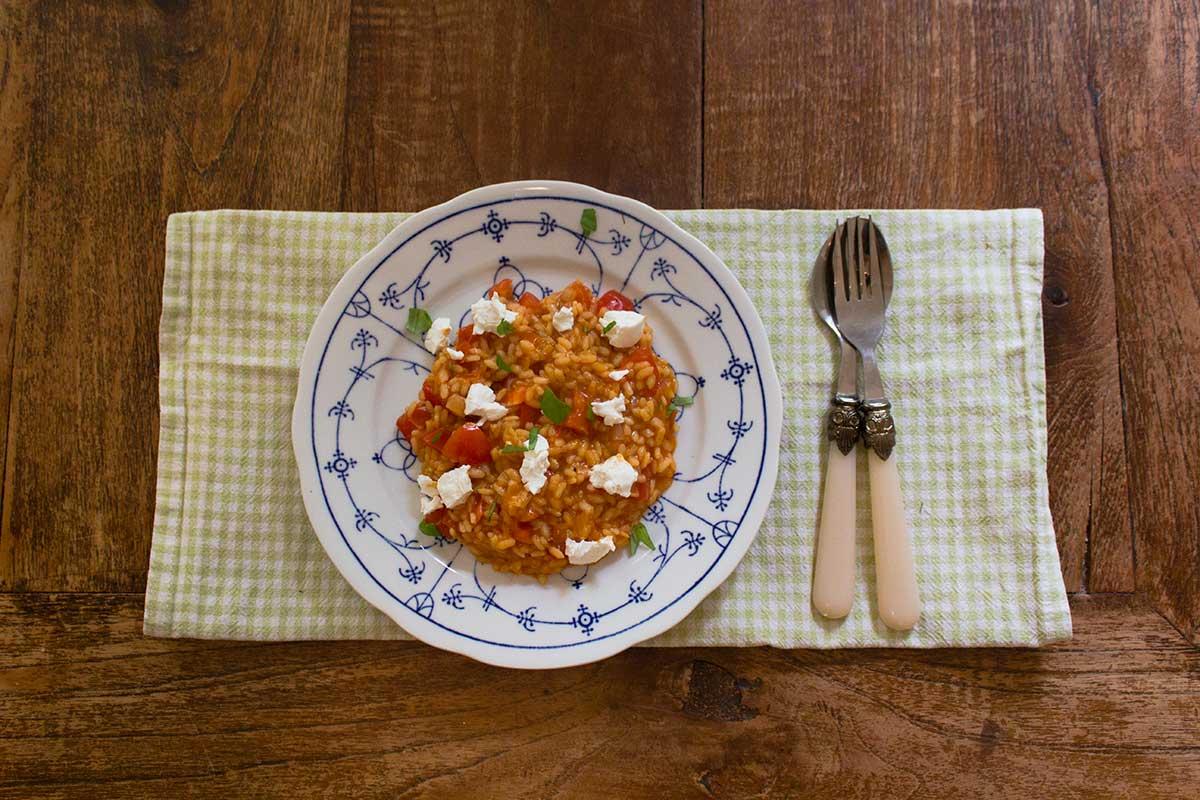 Recipe: Tomato risotto with goat cheese