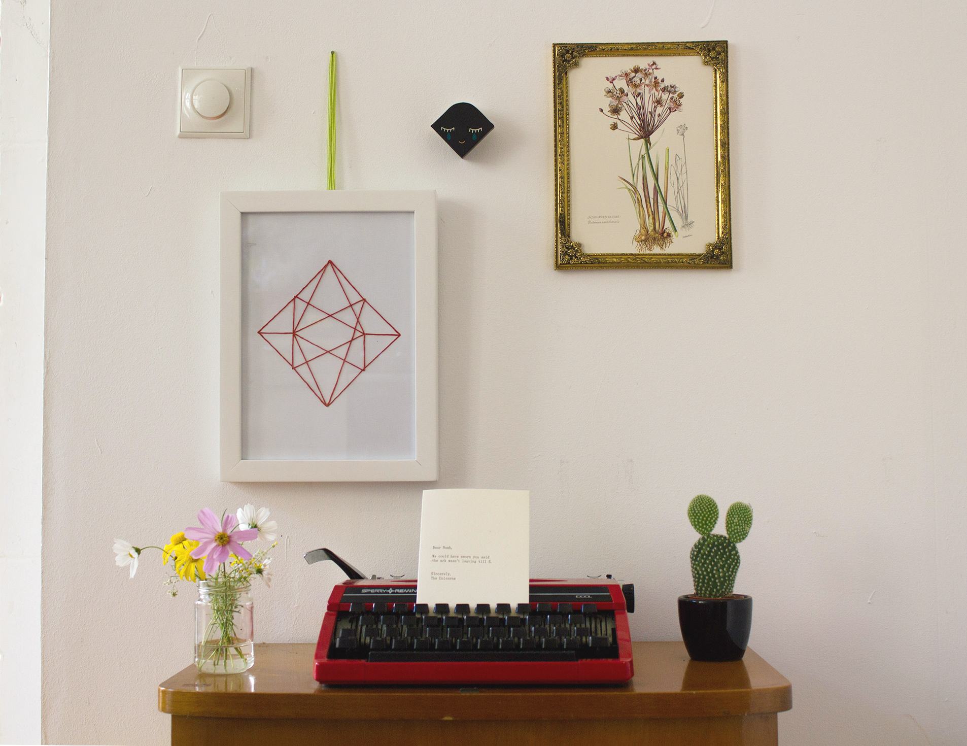 DIY: Geometric wall art