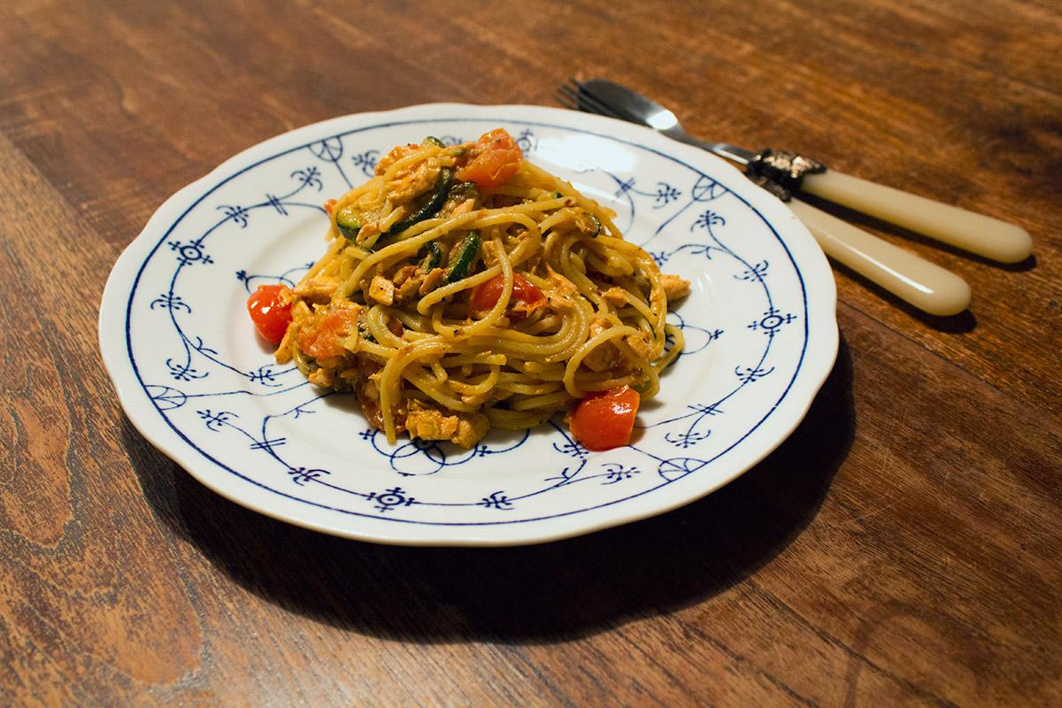 Recept: Spaghetti met tomaat en zalm