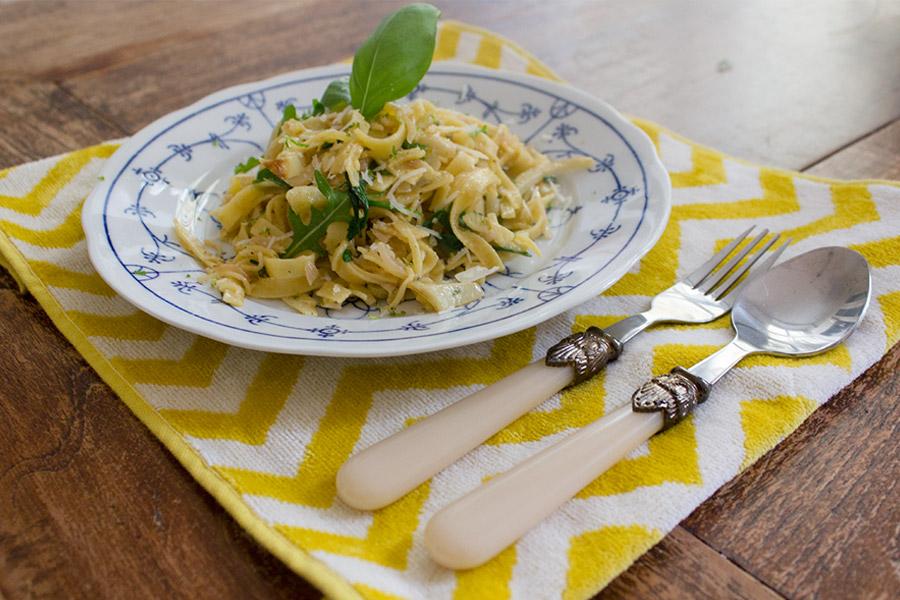[:en]Recipe: Fennel pasta with arugula[:nl]Recept: Venkelpasta met rucola[:]