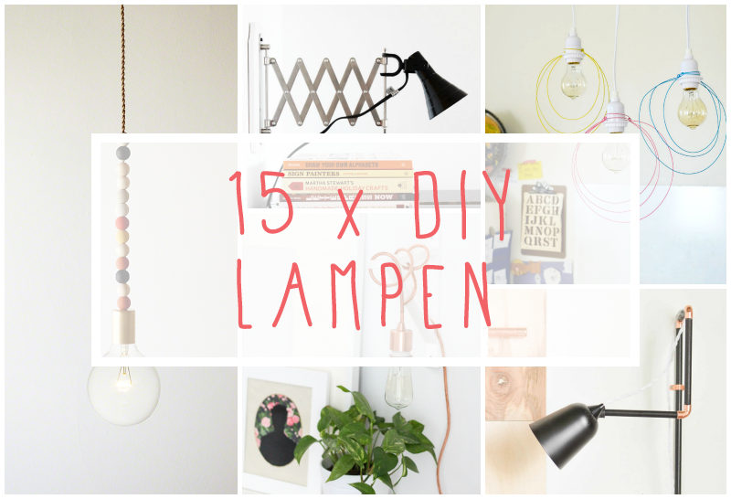 15 x DIY inspiratie voor lampen