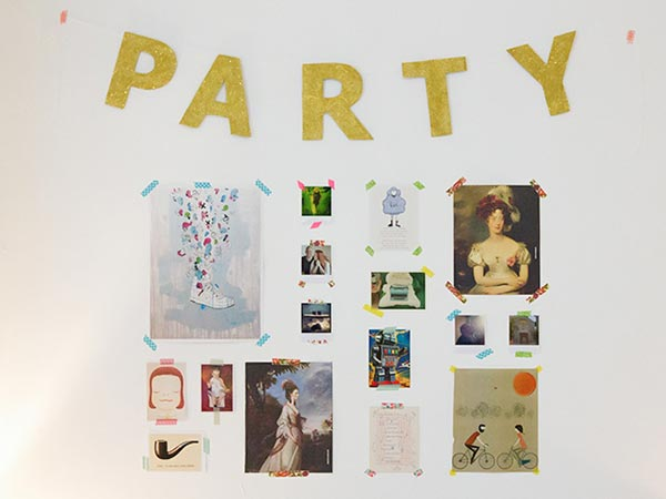 DIY: Glitter party slinger