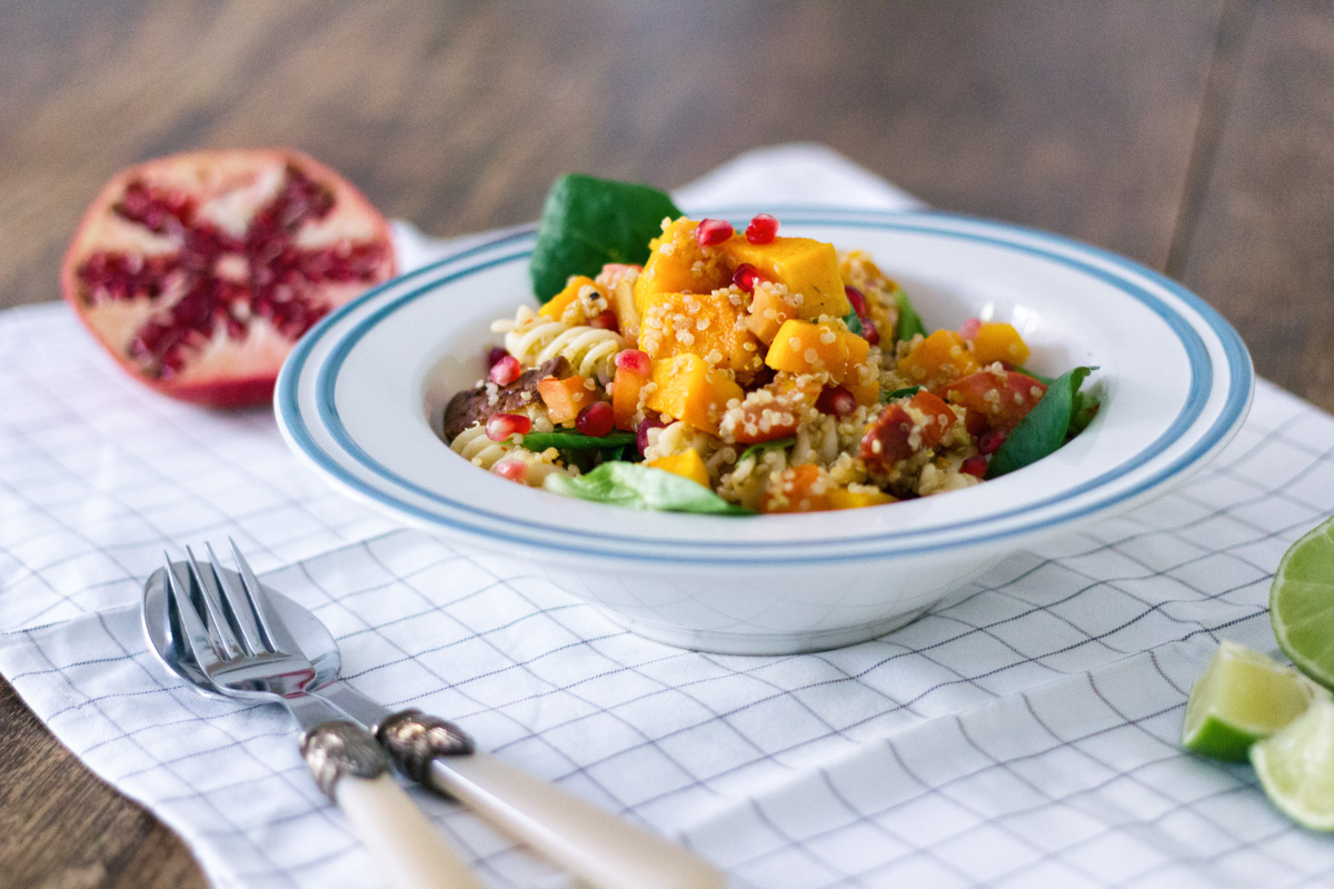 Recipe: Autumn Salad with Pumpkin, Quinoa and Pomegranate