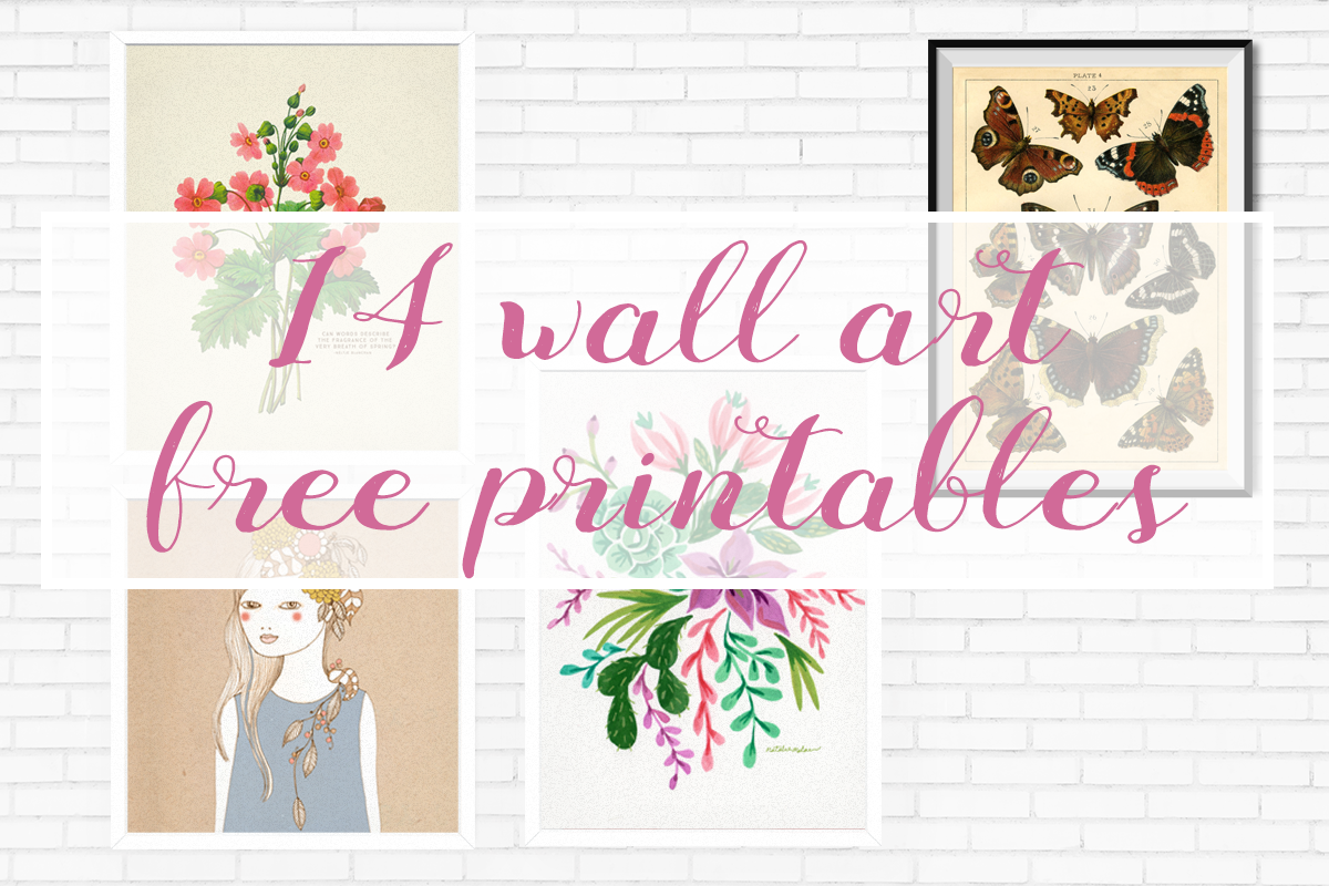 14 Free wall art printables + download!