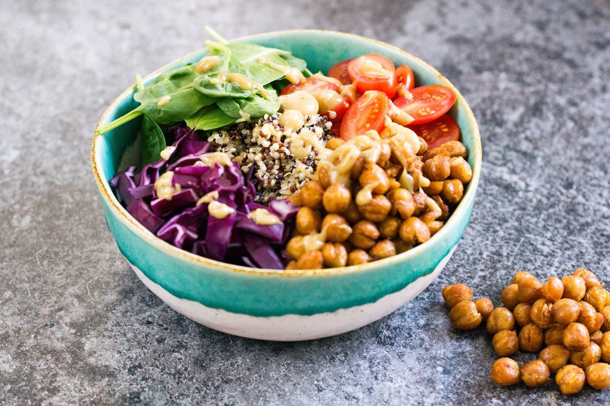 Recept Buddha Bowl quinoa kikkererwten