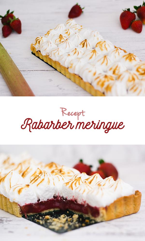 Recept Rabarbertaart met Meringue