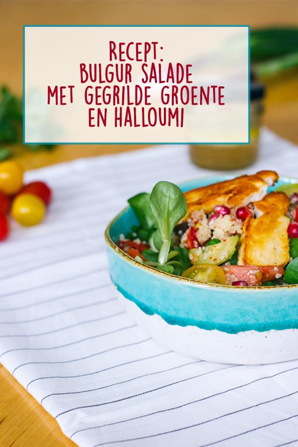 Recept Mediterraanse Bulgur salade met gegrilde groentes